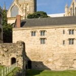 medieval bishops palace - xmas market